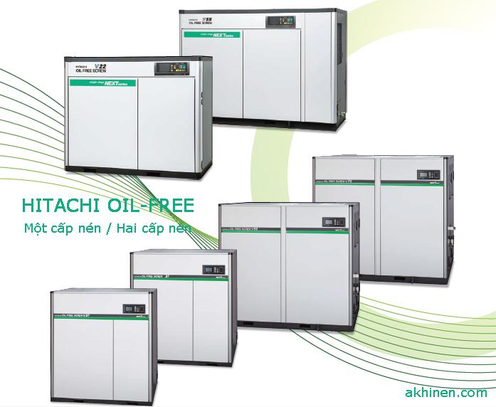 Dòng máy nén khí trục vít không dầu Hitachi Oil-free