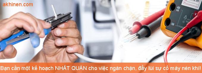 Sửa chữa bảo dưỡng máy nén khí trục vít các loại
