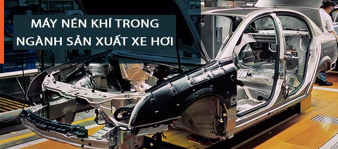 Máy nén khí Hitachi trong ngành sản xuất xe hơi