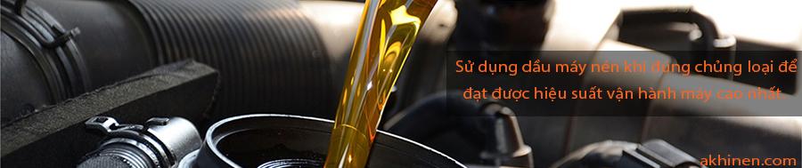 sử dụng dầu máy nén khí đúng chủng loại