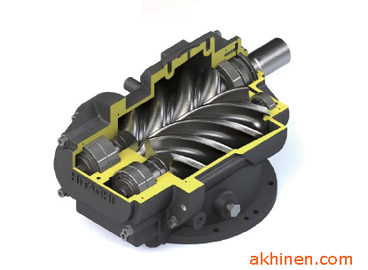 Cụm đầu nén máy nén khí trục vít ngâm dầu Hitachi