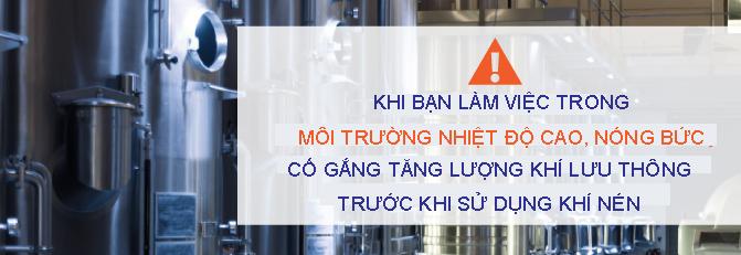 Các làm việc an toàn với máy nén khí