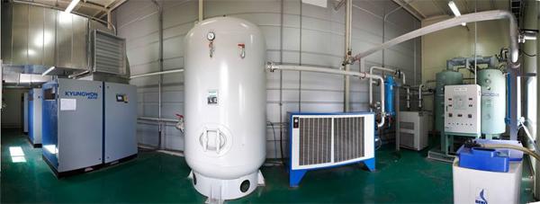 Lắp đặt hoàn thiện hệ thống máy nén khí Kyungwon