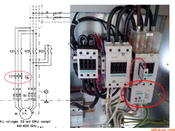 Vị trí lắp đặt bộ cảm biến quá tải trong máy nén khí