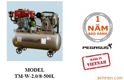 Máy nén khí chạy dầu diesel, công suất 20HP